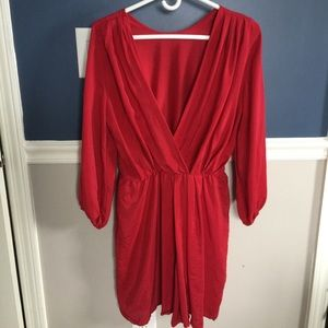 Amanda Uprichard Chelsea Red Silk Dress